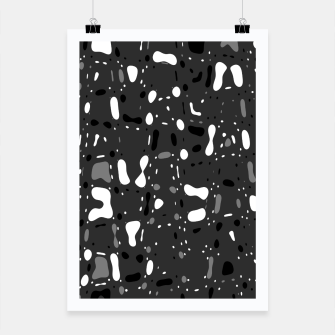 Thumbnail image of Black and white, day and night, dark and light, life contrasts, simple abstract texture design Poster, Live Heroes