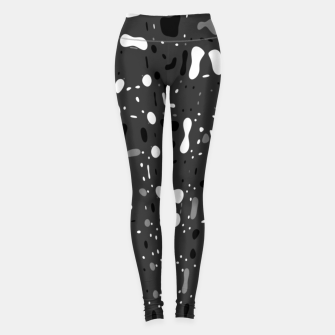 Thumbnail image of Black and white, day and night, dark and light, life contrasts, simple abstract texture design Leggings, Live Heroes