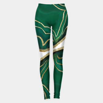 Miniature de image de Emerald Agate Gold Glam #1 #gem #decor #art  Leggings, Live Heroes