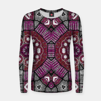 Thumbnail image of Grey an Violet Women sweater, Live Heroes