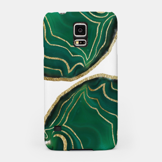 Thumbnail image of Emerald Agate Gold Glam #1 #gem #decor #art  Handyhülle für Samsung, Live Heroes