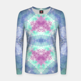 Thumbnail image of Diamante rose and ligth blue Women sweater, Live Heroes