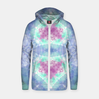 Thumbnail image of Diamante rose and ligth blue Zip up hoodie, Live Heroes