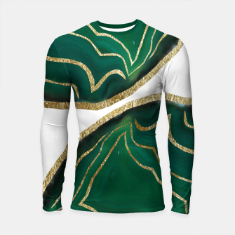 Thumbnail image of Emerald Agate Gold Glam #1 #gem #decor #art  Longsleeve rashguard, Live Heroes