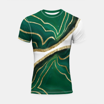 Miniatur Emerald Agate Gold Glam #1 #gem #decor #art  Shortsleeve rashguard, Live Heroes