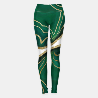 Miniatur Emerald Agate Gold Glam #1 #gem #decor #art  Leggings, Live Heroes
