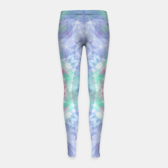 Thumbnail image of Diamante rose and ligth blue Girl's leggings, Live Heroes