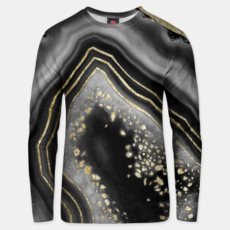 Miniatur Black Night Agate Gold Foil Glam #2 #gem #decor #art  Unisex sweatshirt, Live Heroes