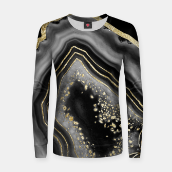 Miniatur Black Night Agate Gold Foil Glam #2 #gem #decor #art  Frauen sweatshirt, Live Heroes