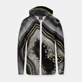 Miniatur Black Night Agate Gold Foil Glam #2 #gem #decor #art  Reißverschluss kapuzenpullover, Live Heroes