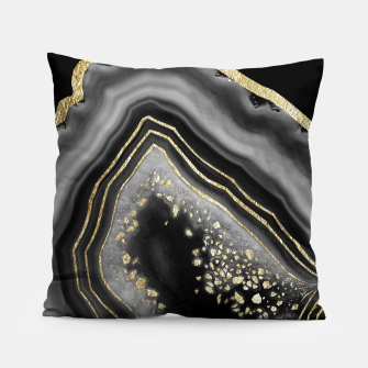 Miniatur Black Night Agate Gold Foil Glam #2 #gem #decor #art  Kissen, Live Heroes