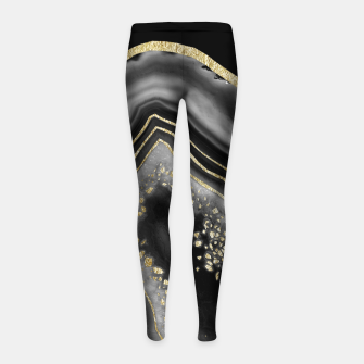 Miniatur Black Night Agate Gold Foil Glam #2 #gem #decor #art  Kinder-Leggins, Live Heroes