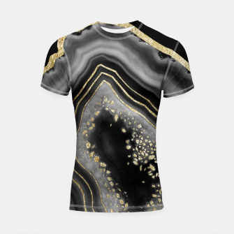 Miniatur Black Night Agate Gold Foil Glam #2 #gem #decor #art  Shortsleeve rashguard, Live Heroes
