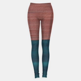 Miniature de image de Copper Teal Abstract Minimalism #1 #minimal #ink #decor #art  Leggings, Live Heroes