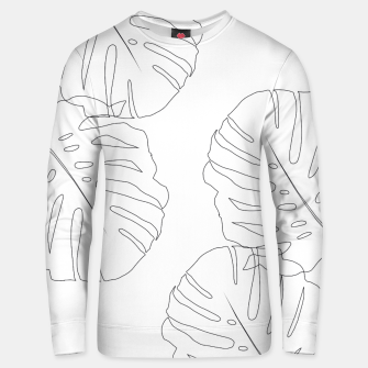 Thumbnail image of Monstera Leaves Finesse Line Art #2 #minimal #decor #art  Unisex sweatshirt, Live Heroes