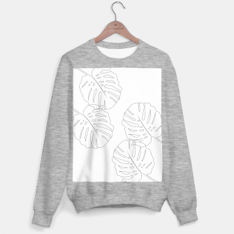 Thumbnail image of Monstera Leaves Finesse Line Art #2 #minimal #decor #art  Sweatshirt regulär, Live Heroes