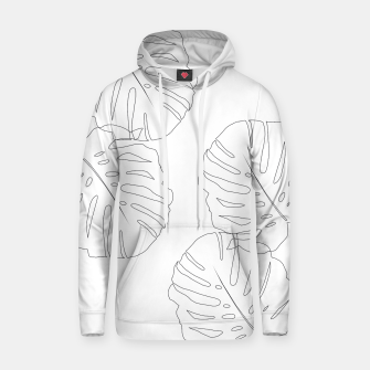Thumbnail image of Monstera Leaves Finesse Line Art #2 #minimal #decor #art  Kapuzenpullover, Live Heroes