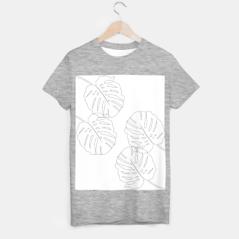 Thumbnail image of Monstera Leaves Finesse Line Art #2 #minimal #decor #art  T-Shirt regulär, Live Heroes