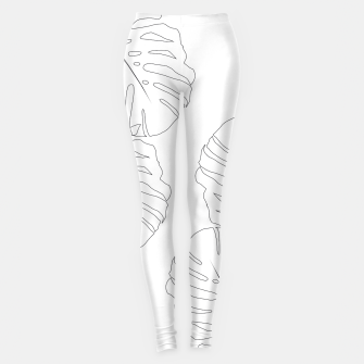 Miniature de image de Monstera Leaves Finesse Line Art #2 #minimal #decor #art  Leggings, Live Heroes