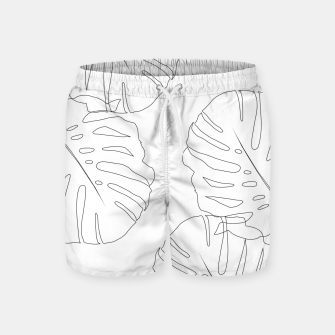 Thumbnail image of Monstera Leaves Finesse Line Art #2 #minimal #decor #art  Badeshorts, Live Heroes