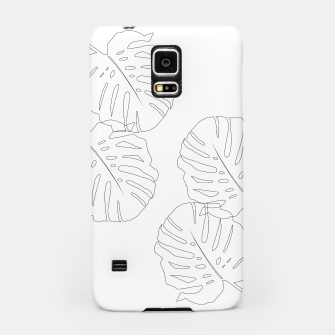 Thumbnail image of Monstera Leaves Finesse Line Art #2 #minimal #decor #art  Handyhülle für Samsung, Live Heroes