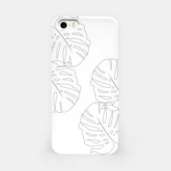 Thumbnail image of Monstera Leaves Finesse Line Art #2 #minimal #decor #art  iPhone-Hülle, Live Heroes