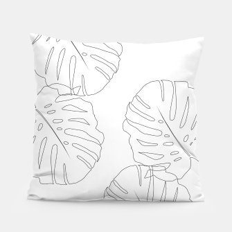 Thumbnail image of Monstera Leaves Finesse Line Art #2 #minimal #decor #art  Kissen, Live Heroes