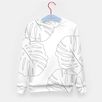Thumbnail image of Monstera Leaves Finesse Line Art #2 #minimal #decor #art  Kindersweatshirt, Live Heroes