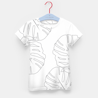 Thumbnail image of Monstera Leaves Finesse Line Art #2 #minimal #decor #art  T-Shirt für kinder, Live Heroes