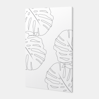 Thumbnail image of Monstera Leaves Finesse Line Art #2 #minimal #decor #art  Canvas, Live Heroes