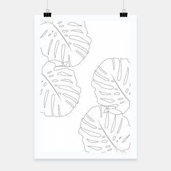 Thumbnail image of Monstera Leaves Finesse Line Art #2 #minimal #decor #art  Plakat, Live Heroes
