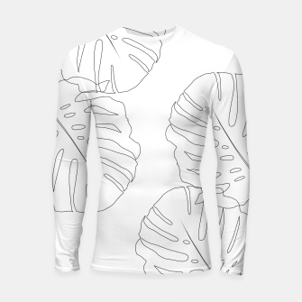 Thumbnail image of Monstera Leaves Finesse Line Art #2 #minimal #decor #art  Longsleeve rashguard, Live Heroes