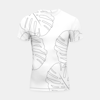 Thumbnail image of Monstera Leaves Finesse Line Art #2 #minimal #decor #art  Shortsleeve rashguard, Live Heroes
