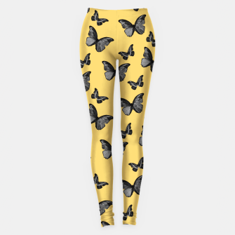 Miniature de image de Black Yellow Butterfly Glam #1 #pattern #decor #art  Leggings, Live Heroes