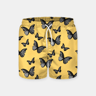 Miniature de image de Black Yellow Butterfly Glam #1 #pattern #decor #art  Badeshorts, Live Heroes