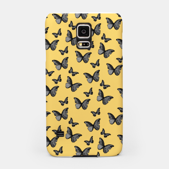 Thumbnail image of Black Yellow Butterfly Glam #1 #pattern #decor #art  Handyhülle für Samsung, Live Heroes