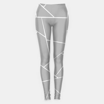 Miniature de image de Gray White Geometric Glam #1 #geo #decor #art  Leggings, Live Heroes
