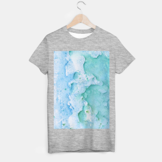 Thumbnail image of Touching Soft Turquoise Teal Blue Watercolor Abstract #1 #painting #decor #art  T-Shirt regulär, Live Heroes