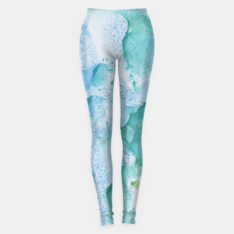 Miniature de image de Touching Soft Turquoise Teal Blue Watercolor Abstract #1 #painting #decor #art  Leggings, Live Heroes