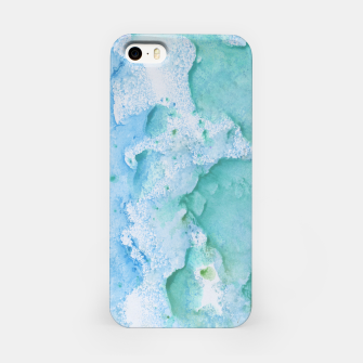 Thumbnail image of Touching Soft Turquoise Teal Blue Watercolor Abstract #1 #painting #decor #art  iPhone-Hülle, Live Heroes