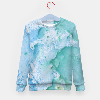Thumbnail image of Touching Soft Turquoise Teal Blue Watercolor Abstract #1 #painting #decor #art  Kindersweatshirt, Live Heroes