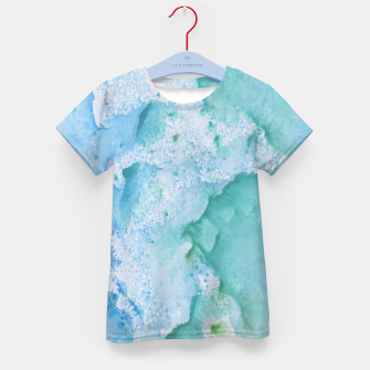 Thumbnail image of Touching Soft Turquoise Teal Blue Watercolor Abstract #1 #painting #decor #art  T-Shirt für kinder, Live Heroes
