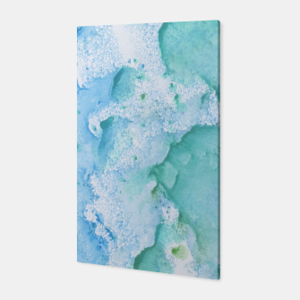 Thumbnail image of Touching Soft Turquoise Teal Blue Watercolor Abstract #1 #painting #decor #art  Canvas, Live Heroes