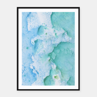 Thumbnail image of Touching Soft Turquoise Teal Blue Watercolor Abstract #1 #painting #decor #art  Plakat mit rahmen, Live Heroes