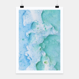 Thumbnail image of Touching Soft Turquoise Teal Blue Watercolor Abstract #1 #painting #decor #art  Plakat, Live Heroes