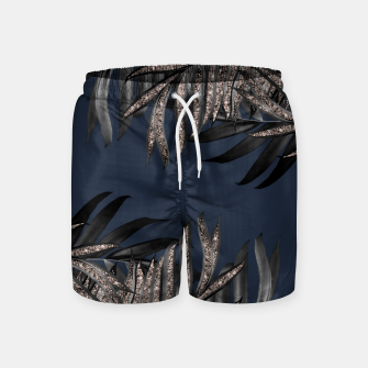 Miniature de image de Gray Black Palm Leaves with Rose Gold Glitter #7 #tropical #decor #art Badeshorts, Live Heroes