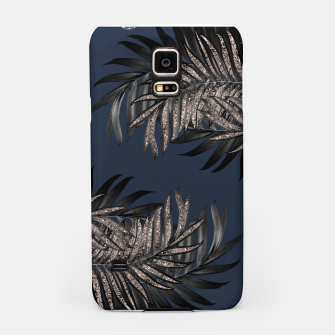 Thumbnail image of Gray Black Palm Leaves with Rose Gold Glitter #7 #tropical #decor #art Handyhülle für Samsung, Live Heroes