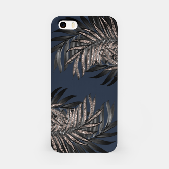 Miniaturka Gray Black Palm Leaves with Rose Gold Glitter #7 #tropical #decor #art iPhone-Hülle, Live Heroes