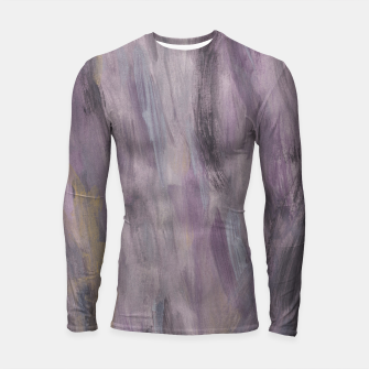 Miniatur Touching Lavender Black Gold Watercolor Abstract #1 #painting #decor #art Longsleeve rashguard, Live Heroes