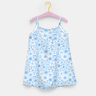 Thumbnail image of Wild Flowers - floral pattern blue Girl's dress, Live Heroes